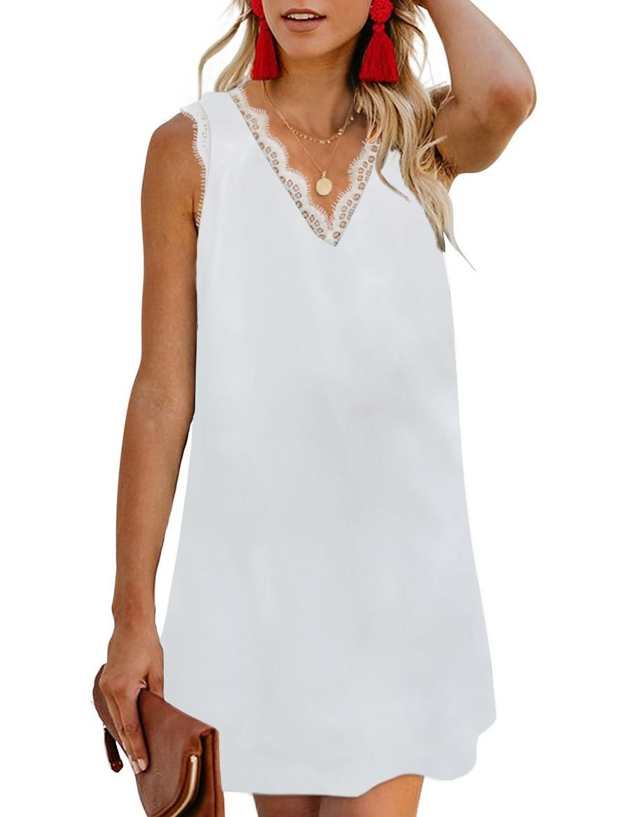 MINI SUMMER DRESS Ola white