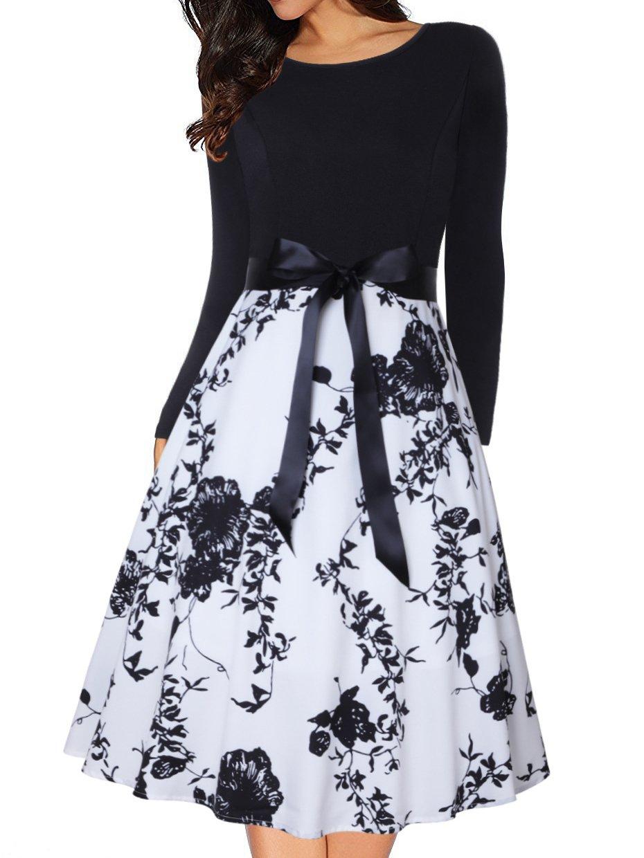 ROCHIE ELEGANTA LAURAL negru cu alb imagine