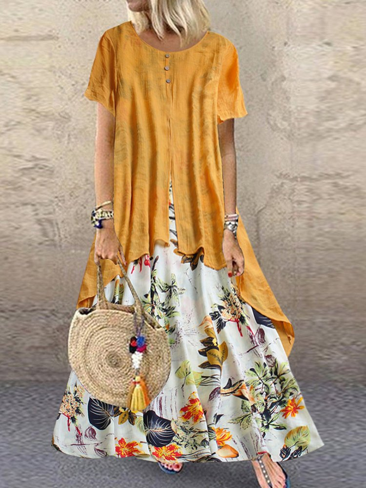 SUMMER DRESS ADRIANNE yellow