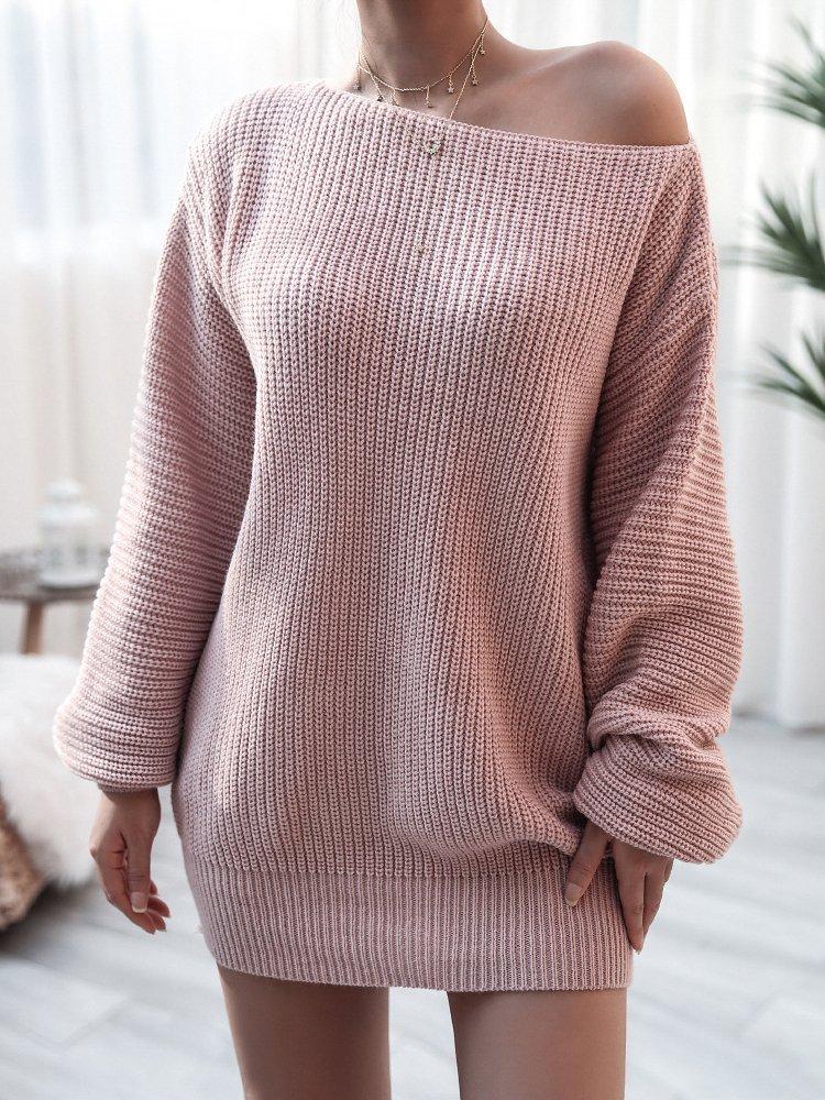 SWEATER DRESS LATRISHA pink