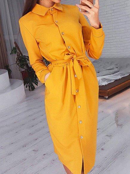 ELEGANT DRESS HEATHER yellow