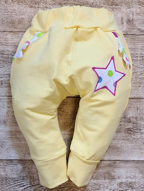 PANTALONI BABY CORA galben imagine