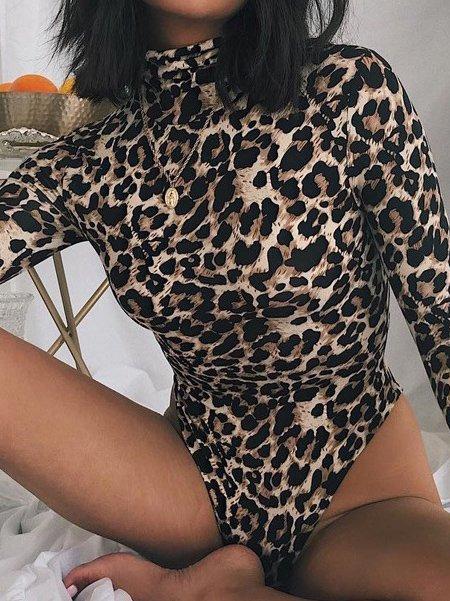 BODYSUIT CHARM leopard