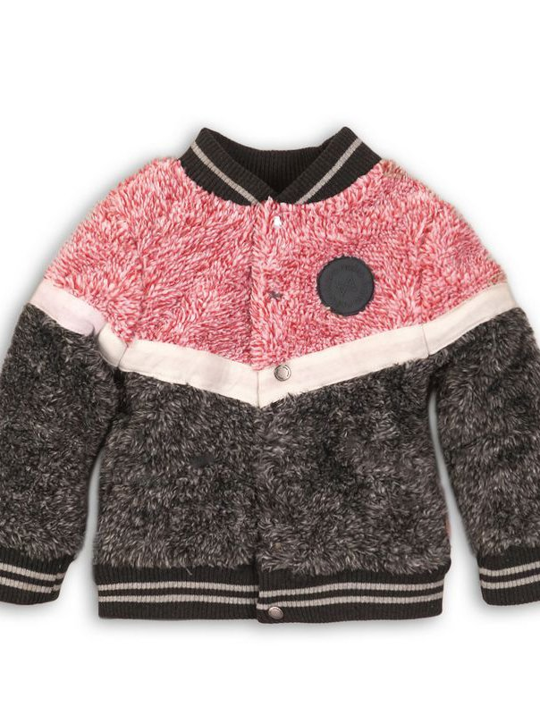 BABY OUTSIDE CARDIGAN MOLY pink- grey