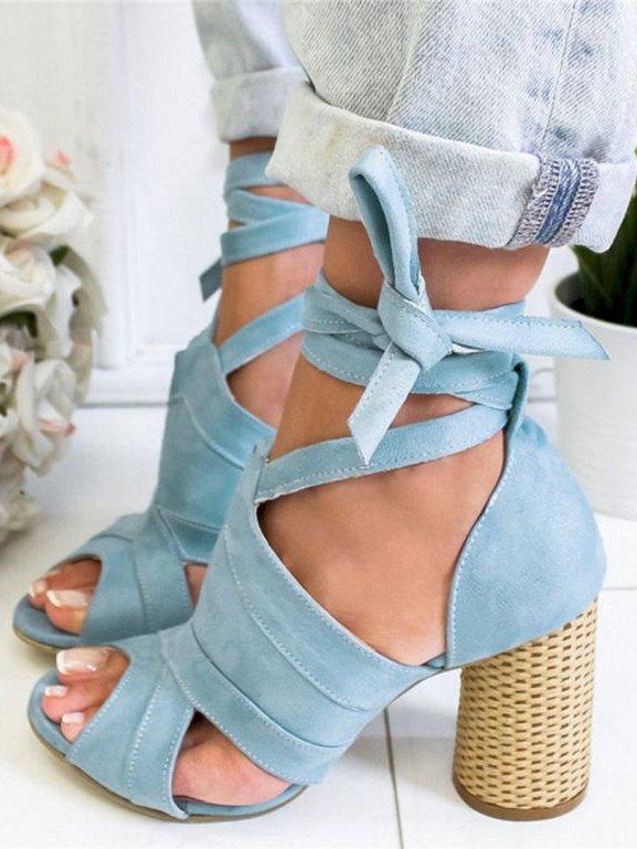 SANDALE ELVINA albastre