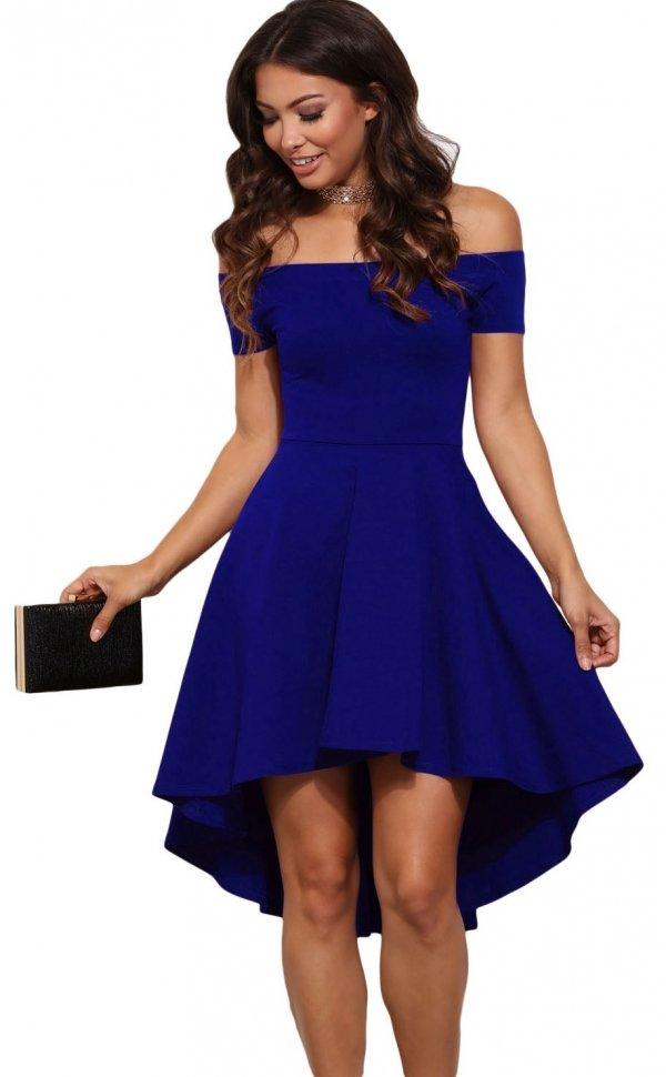 Abiti Eleganti Blu.Abito Elegante Cicci Blu Abiti Eleganti Abiti