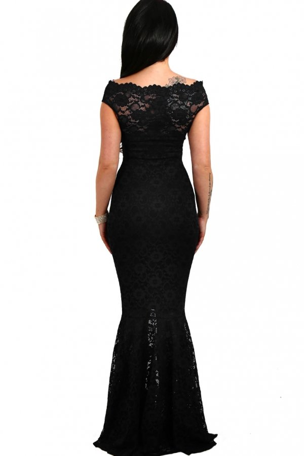 ABENDKLEID CALYNDA mit Spitze schwarz - Elegante kleider ...