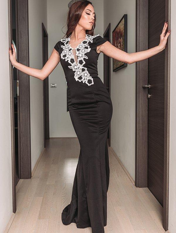 meerjungfrau abendkleid norea schwarz  abendkleider  kleider