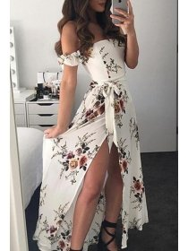 LETNIA MIDI SUKIENKA DIONE biała Sukienki