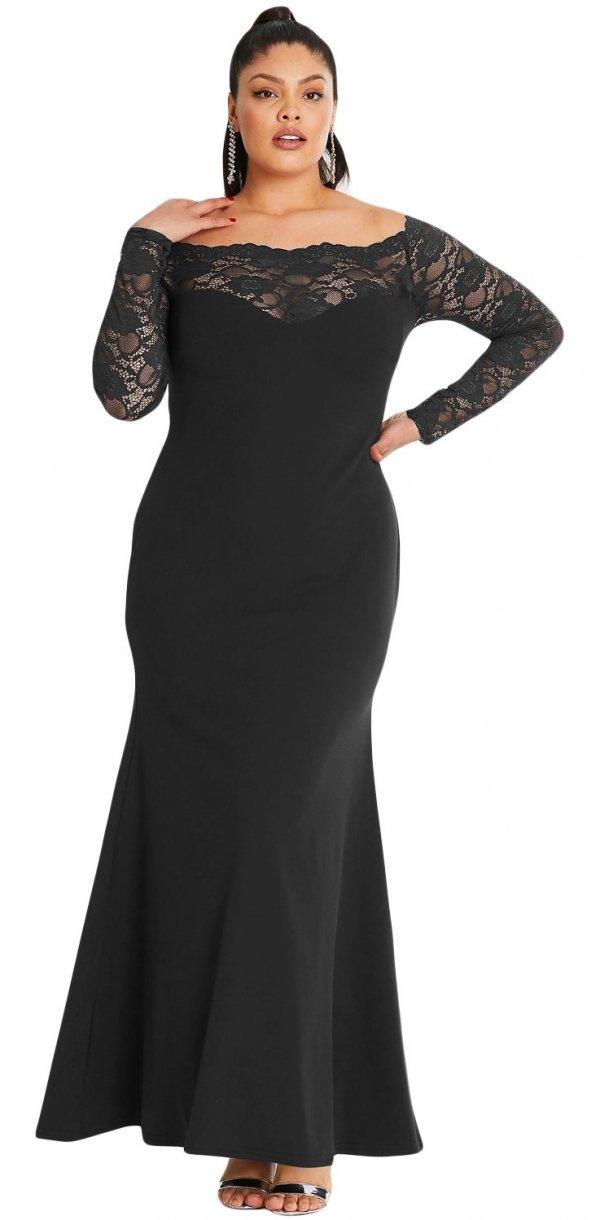 MAXIKLEID JUDIT Große Größen schwarz - Abendkleider - KLEIDER