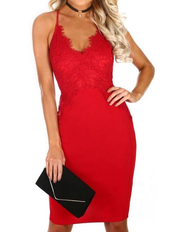 EVENING DRESS BELLEN red
