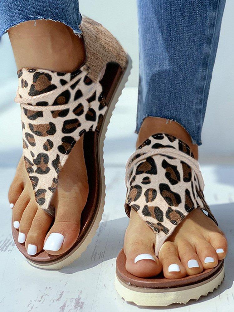 SANDALE WILLOW leopard imagine
